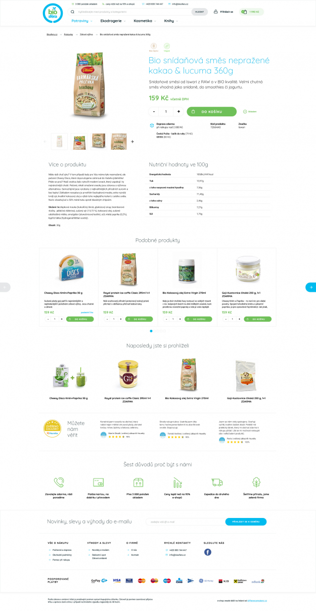 Unikátní grafika e-shopu